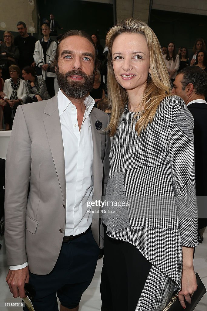John Nollet and <a gi-track='captionPersonalityLinkClicked' href=/galleries/search?phrase=Delphine+Arnault&family=editorial&specificpeople=577890 ng-click='$event.stopPropagation()'>Delphine Arnault</a> attend Dior Homme Menswear Spring/Summer 2014 show as part of Paris Fashion Week on June 29, 2013 in Paris, France.