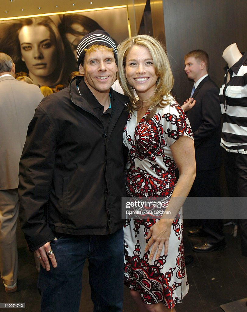John Norris and Megan DeSales during Club Monaco Celebrates The Launch of 'Spooning' April 26 2006 at Club Monaco in New York City New York United...