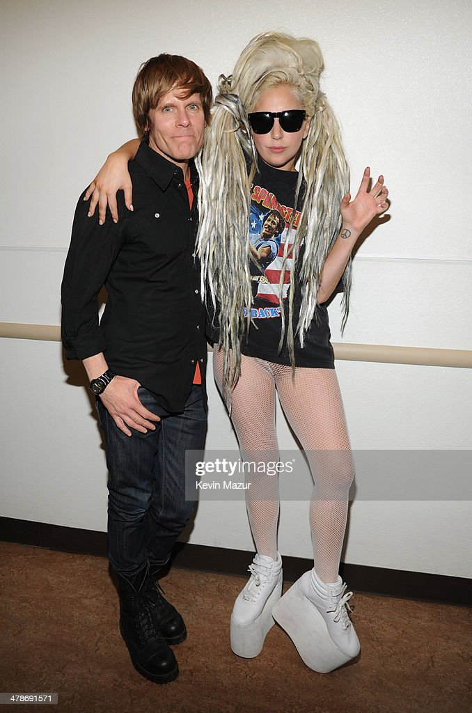 John Norris and musician Lady Gaga attend Keynote at SXSW at Austin Convention Center on March 14 2014 in Austin Texas
