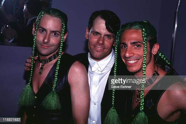 John Norris with It Twins during John Norris at Club USA 1993 at Club USA in New York City New York United States