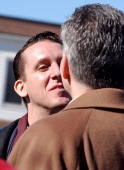 John North kisses his partner Andrew Burgreen both of Manhattan during a Solemnizing ceremony at the New Paltz Village Hall February 27 in New Paltz...