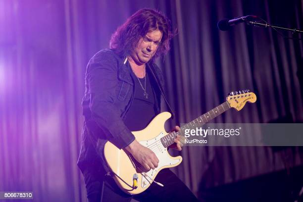 John Norum of Swedish rock band Europe during his performance at Rock Fest Barcelona 2017 Festival in Santa Coloma Spain on July 02 2017