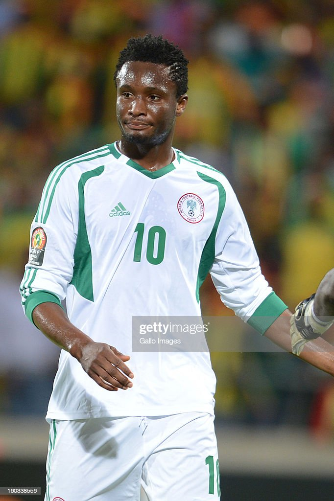 AFRICA - JANUARY 29, John Obi Mikel of Nigeria during the 2013 African Cup of Nations match between Ethiopia and Nigeria at Royal Bafokeng Stadium on January 29, 2013 in Rustenburg, South Africa.