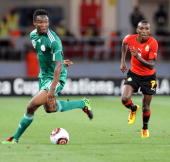 John Obi Mikel of Nigeria in action during the African Nations Cup Group C match between Nigeria and Mozambique at the Alto da Chela Stadium on...