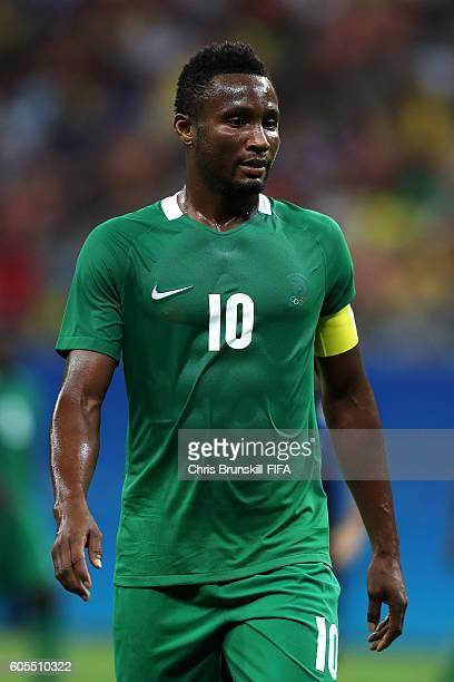 John Obi Mikel of Nigeria looks on during the Men's Olympic Football match between Nigeria and Japan at Arena Amazonas on August 4 2016 in Manaus...