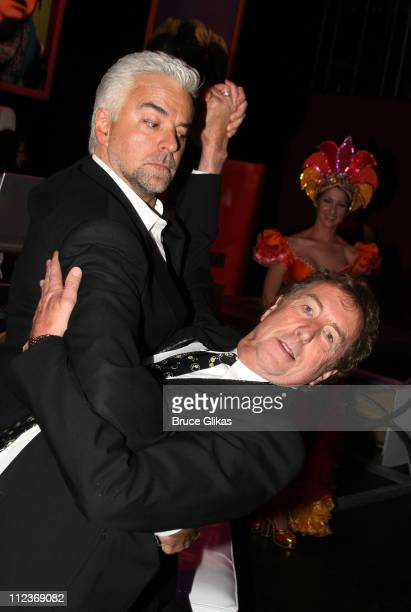 John O'Hurley and Erivc Idle during Opening Night For 'Spamalot' At The Wynn Las Vegas Arrivals at Wynn Hotel Casino in Las Vegas Nevada United States