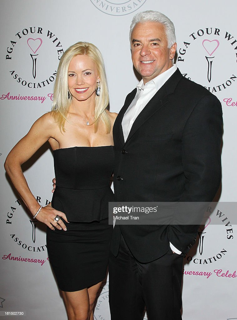 John O'Hurley (R) and wife, Lisa Mesloh arrive at the PGA TOUR Wives Association celebrates its 25th Anniversary held at Fairmont Miramar Hotel on February 11, 2013 in Santa Monica, California.