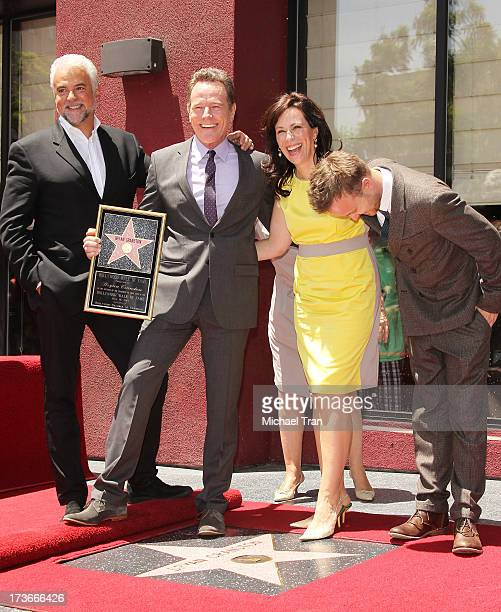 John O'Hurley Bryan Cranston Jane Kaczmarek and Aaron Paul attend the ceremony honoring Bryan Cranston with a Star on The Hollywood Walk of Fame held...