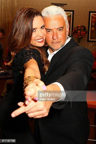 John O'Hurley dances with Karent Sierra during Wine Down Wednesday at Sorrisi at Seminole Casino Coconut Creek on March 23 2016 in Coconut Creek...