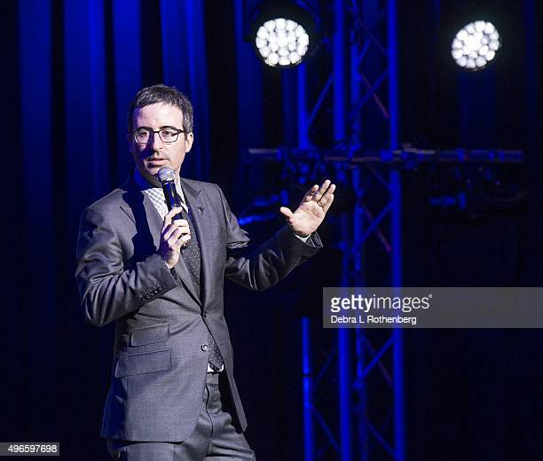 John Oliver at the 9th Annual Stand Up For Heroes Event presented by the New York Comedy Festival and the Bob Woodruff Foundation at Madison Square...