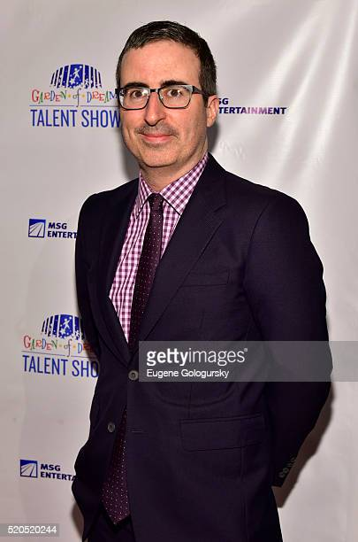 John Oliver attends the 2016 Garden of Dreams Talent Show at Radio City Music Hall on April 11 2016 in New York City