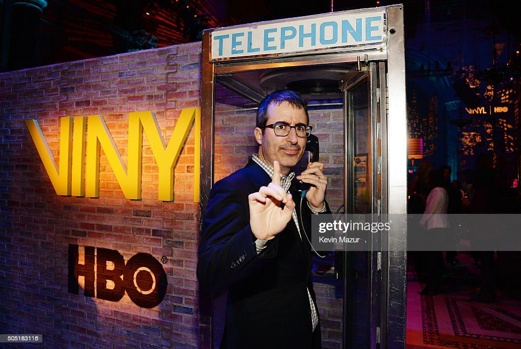 John Oliver attends the after party of the New York premiere of 'Vinyl' at Ziegfeld Theatre on January 15, 2016 in New York City.