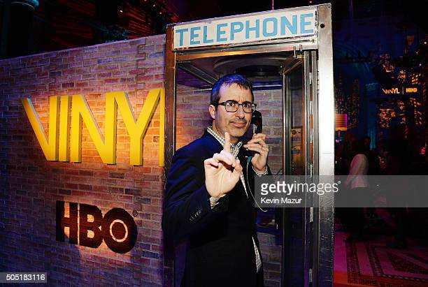 John Oliver attends the after party of the New York premiere of 'Vinyl' at Ziegfeld Theatre on January 15 2016 in New York City