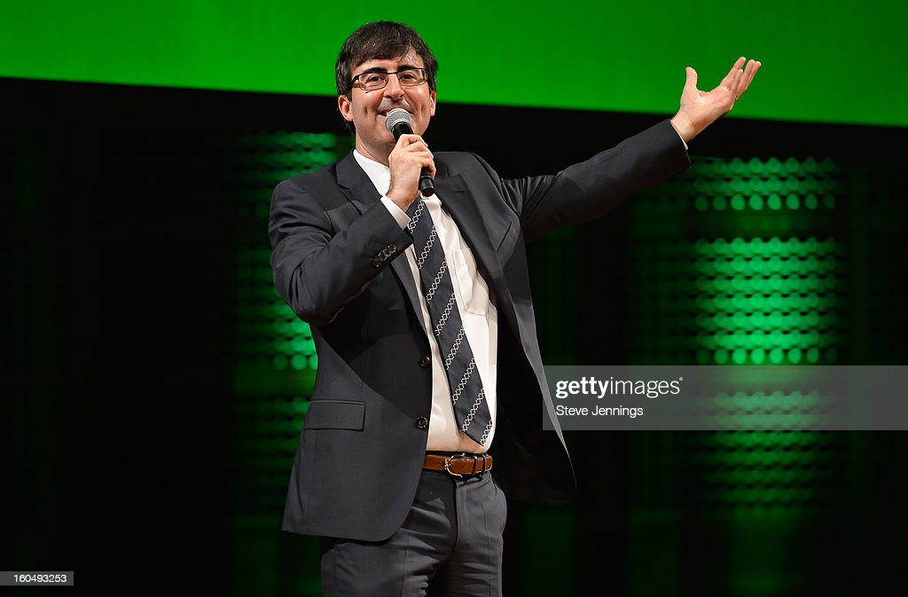 John Oliver entertains the crowd at the 6th Annual Crunchies Awards at Davies Symphony Hall on January 31, 2013 in San Francisco, California.