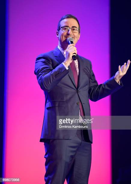 John Oliver speaks onstage during The Trevor Project TrevorLIVE NYC 2017 at Marriott Marquis Times Square on June 19 2017 in New York City