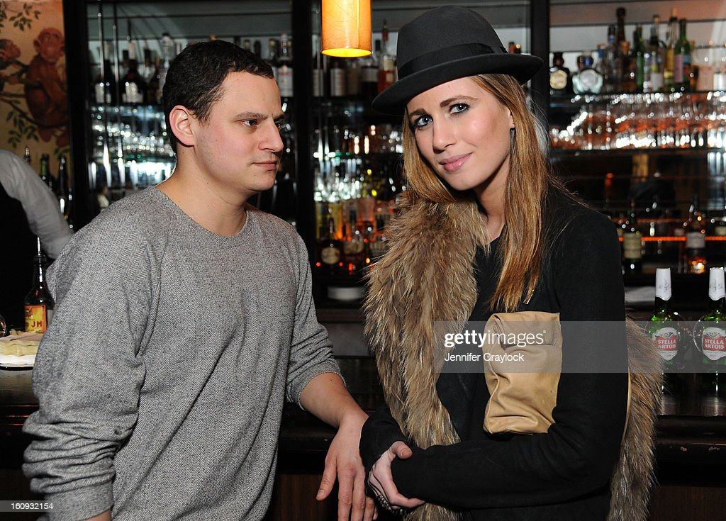 John Ortved and Alyson Shiffman attend the Band Of Outsiders Fashion Week Mens Collection After Party held at the Monkey Bar on February 7, 2013 in New York City.