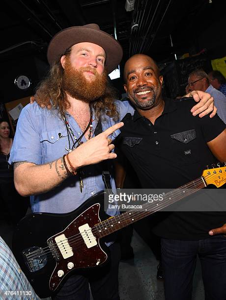 John Osborne and Darius Rucker attend the 6th Annual 'Darius And Friends' Concert at Wildhorse Saloon on June 8 2015 in Nashville Tennessee