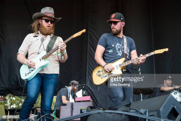 John Osborne and JT Osborne of Brothers Osborne performs during Austin City Limits Festival at Zilker Park on October 15 2017 in Austin Texas