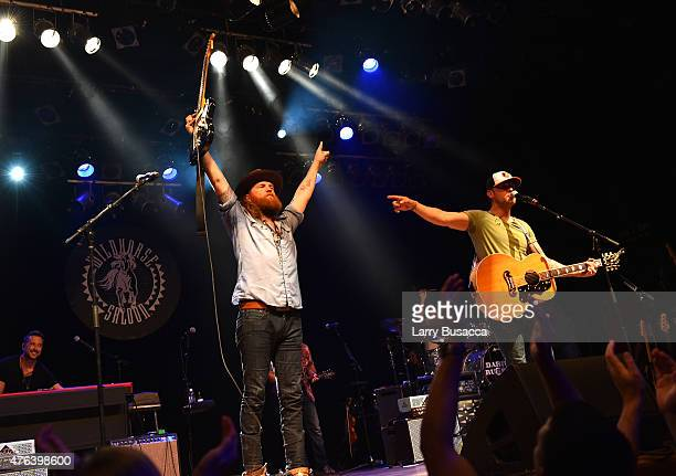 John Osborne and TJ Osborne of The Brothers Osborne perform at the 6th Annual 'Darius And Friends' Concert at Wildhorse Saloon on June 8 2015 in...