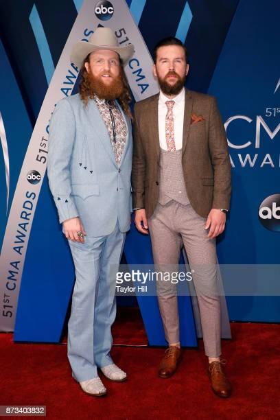John Osborne and TJ Osborne of The Osborne Brothers attend the 51st annual CMA Awards at the Bridgestone Arena on November 8 2017 in Nashville...