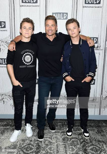 John Owen Lowe Rob Lowe and Matthew Lowe attend Build to discuss 'The Lowe Files'at Build Studio on July 24 2017 in New York City