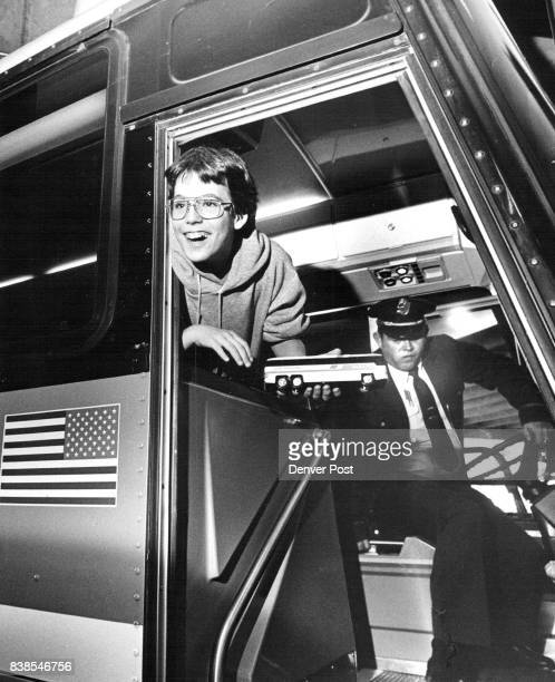 John Parker 13 along with 19 other people got a free ticket to Cheyenne Friday by the Greyhound Bus Co he also got a free toy bus He was on his way...