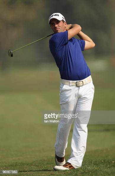 John Parry of England in action during Round One of the Avantha Masters held at The DLF Golf and Country Club on February 11 2010 in New Delhi India