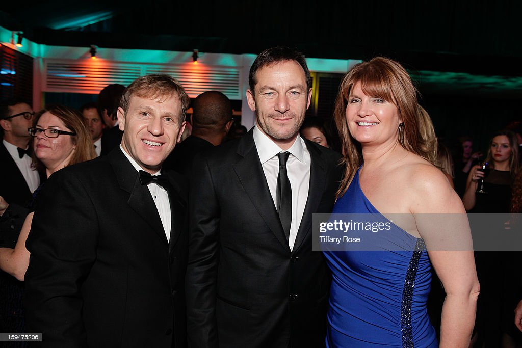 John Partouche, Jason Isaacs and Alexa Jago attend the NBC/Universal/Focus Features/E! Networks Golden Globe Awards Celebration Designed And Produced By Angel City Designs at The Beverly Hilton Hotel on January 13, 2013 in Beverly Hills, California.