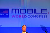 John Partridge President of Visa Inc speaks during a keynote event at the Mobile World Congress in Barcelona on February 29 2012 on the second day of...