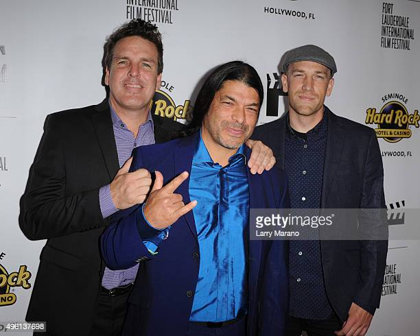 John Pastorius Robert Trujillo and Paul Marchand attend the Fort Lauderdale International Film Festival Opening Night at Seminole Hard Rock Hotel on...