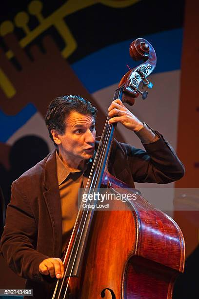 John Patitucci plays base for the Wayne Shorter quartet on the Jimmy Lyons Stage at the Monterey Jazz Festival Monterey California
