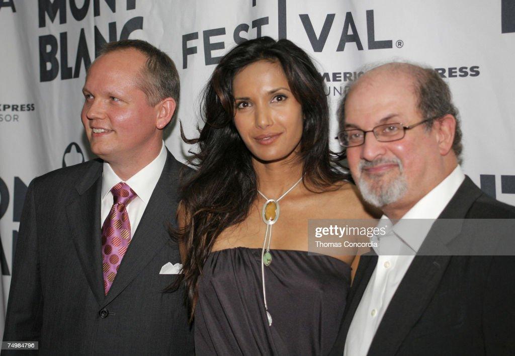 John Patrick, CEO of Montblanc, Padma Lakshmi, Salman Rushdie