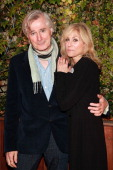 John Patrick Shanley and Judith Light attend the 'Salute To New York Theatre' at Maritime Hotel on November 12 2012 in New York City
