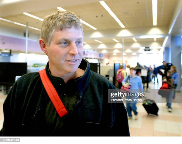 Sat Feb14 2009 Frank Boucher from Limerick is headed to Orlando Fla with his family as travel is light at the Portland Jetport today