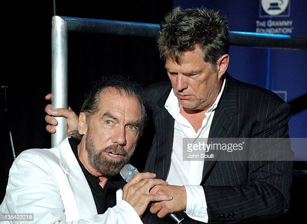 John Paul DeJoria and David Foster during Starry Night Benefit Honoring Los Angeles Mayor Antonio Villaraigosa Show at Villa Casablanca in Malibu...