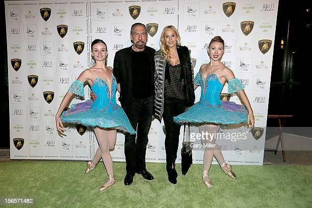John Paul DeJoria and Eloise DeJoria attend the My Yacht F1 Club at Ballet Austin on November 16 2012 in Austin Texas