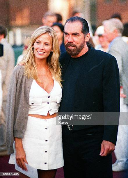 John Paul DeJoria cofounder and CEO of John Paul Mitchell Systems with his wife model Eloise Broady circa 1990