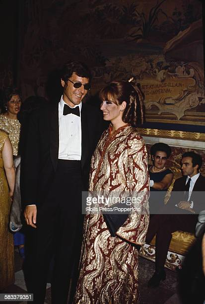 John Paul Getty Jr son of oil billionaire John Paul Getty pictured with his wife Dutch actress Talitha Pol at the premiere of the film 'More than a...