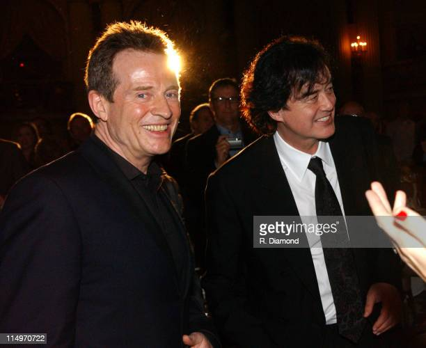 John Paul Jones and Jimmy Page during GRAMMY Special Merit Awards Ceremony February 12 2005 at Millenium Biltmore Hotel in Los Angeles CA United...