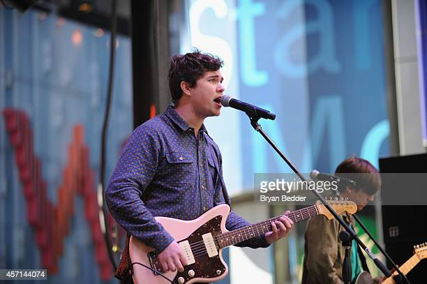 John Paul Pitts of Surfer Blood performs at CBGB Music Film Festival 2014 Times Square Concerts on October 12 2014 in New York City