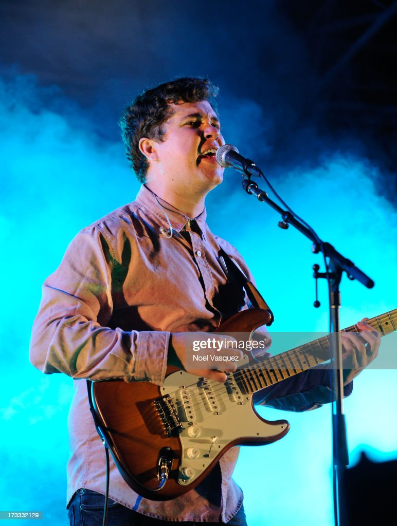 John Paul Pitts of Surfer Blood performs at KCRW's Twilight Concert Series on July 11, 2013 in Santa Monica, California.