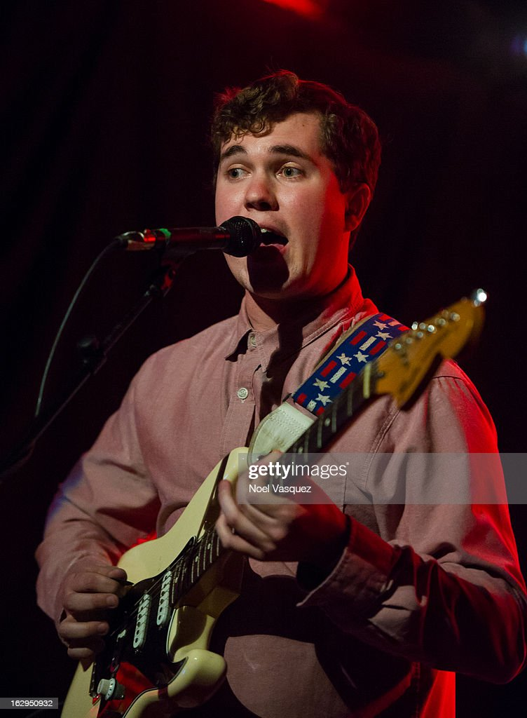<a gi-track='captionPersonalityLinkClicked' href=/galleries/search?phrase=John+Paul+Pitts&family=editorial&specificpeople=6393134 ng-click='$event.stopPropagation()'>John Paul Pitts</a> of Surfer Blood performs at The Echo on March 1, 2013 in Los Angeles, California.