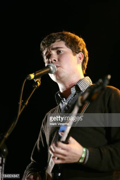 John Paul Pitts of Surfer Blood performs live as suport act for Interpol at Heineken Music Hall on November 21 2010 in Amsterdam Netherlands