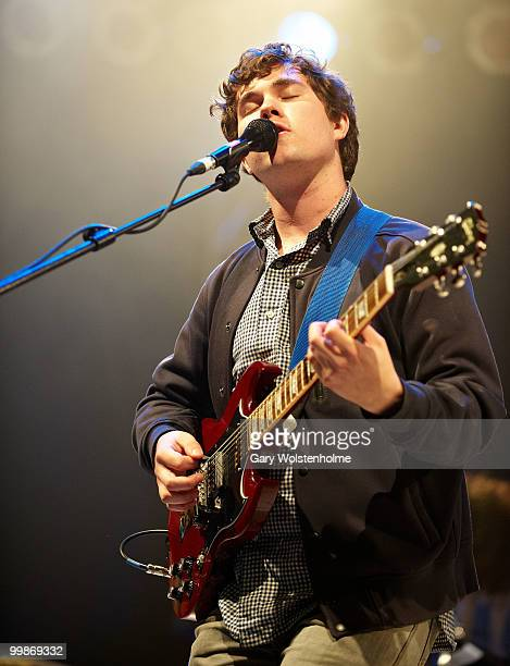 John Paul Pitts of Surfer Blood performs on stage during day one of Pavement Curated All Tomorrow's Parties Festival at Butlins Holiday Centre on May...