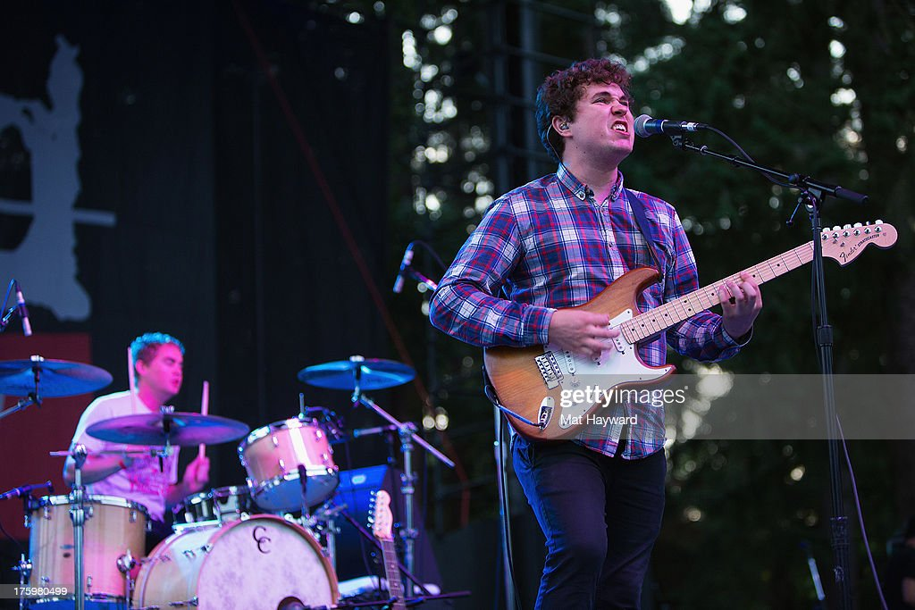 John Paul Pitts of Surfer Blood performs on stage during Summer Camp hosted by 107.7 The End at Marymoor Park on August 10, 2013 in Seattle, Washington.