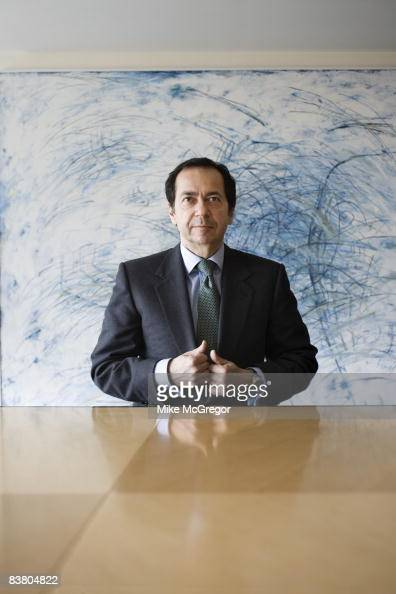 John Paulson head fund manager poses at a portrait session for Institutional Investor Magazine on April 8 2008 in New York City