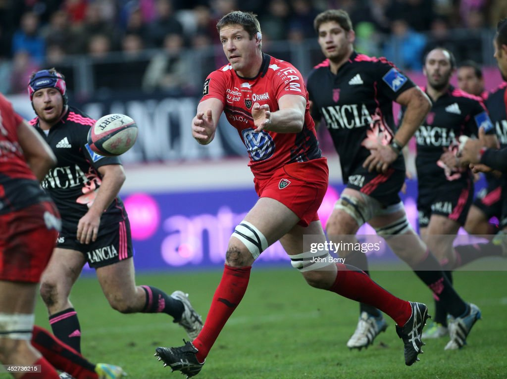 John Philip Botha aka Bakkies Botha of RC Toulon in action during the Top 14 rugby match between Stade Francais Paris and Racing Club Toulon at the Stade Jean Bouin on November 30, 2013 in Paris, France.