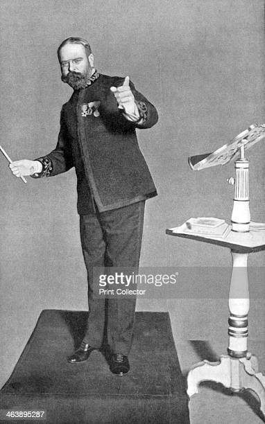 John Philip Sousa American march composer and bandmaster conducting his 'Washington Post' Picture published London 1903