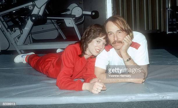 John Phillips poses for a photograph December 1 1980 with his daughter MacKenzie while in drug rehab at Fair Oaks Hospital in Summit New Jersey