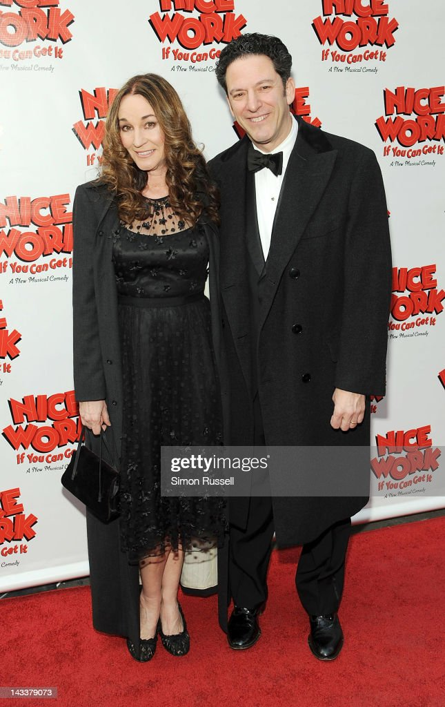 John Pizzarelli and Jennifer Molaskey attend the 'Nice Work If You Can Get It' Broadway opening night at the Imperial Theatre on April 24, 2012 in New York City.